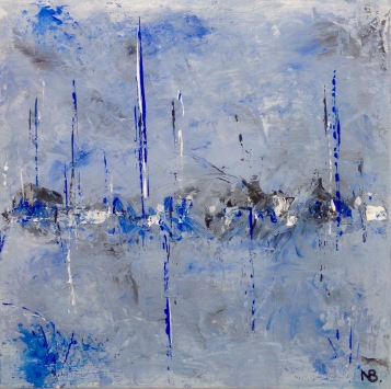 Blue City (2015) 12x12 - SOLD