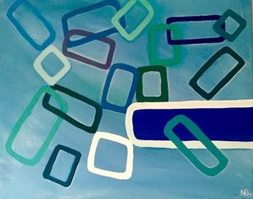 Flying Glasses (2016) 16x20