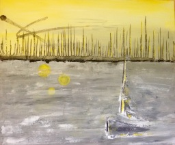 Ghost Boat (2015) 16x20 - SOLD