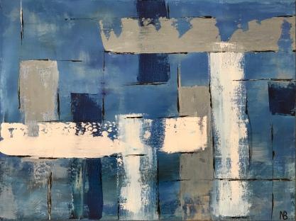 Columns In Blue (2017) 24x18