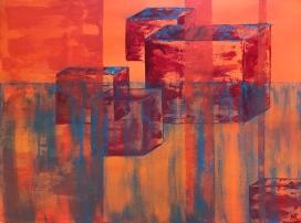 Cubes (2017) 24x18 Sold